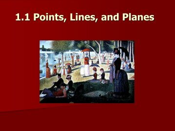 1.1 Points, Lines and Planes
