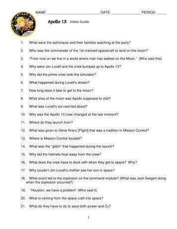 Worksheets Apollo 13 Worksheet Answers apollo 13 worksheet sharebrowse gozoneguide thousands of