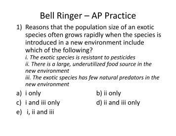 Bell Ringer – AP Practice