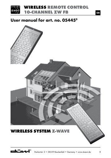 Wireless remote control 10-channel ZW fb Wireless ... - UK Automation