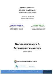 1. Nachbehandlungsstandards - Universitätsklinikum Essen