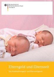 Broschüre zur Elternzeit und zum Elterngeld ab 2013