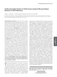 Colitis-Associated Variant of TLR2 Causes Impaired Mucosal Repair ...