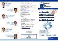 Kurs für mikrovaskulären Gewebetransfer im HNO-Bereich 27. bis ...