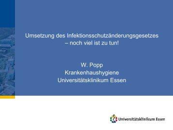 3 Hygienekommission - Universitätsklinikum Essen