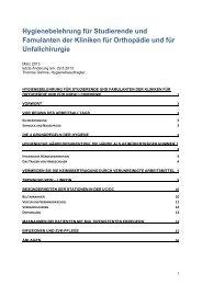 1. Hygienebelehrung für Studierende - Universitätsklinikum Essen