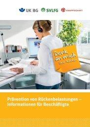 Informationen für Beschäftigte - Denk an mich. Dein Rücken