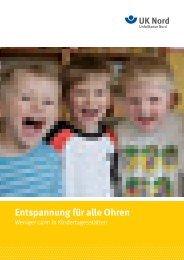 Broschüre Entspannung für alle Ohren - Unfallkasse Nord