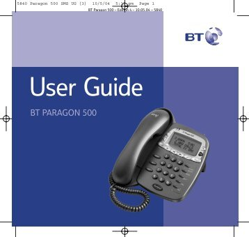 BT Paragon 500 - Cordless phones