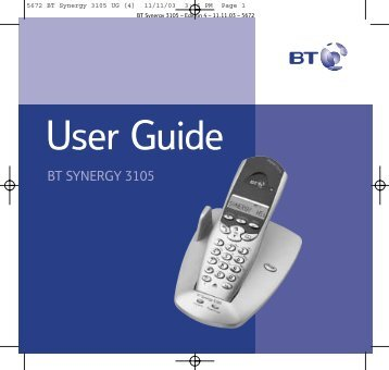 BT Synergy 3105 - Cordless Phones
