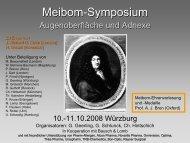 1. Meibom-Symposium - Universitätsklinikum Würzburg