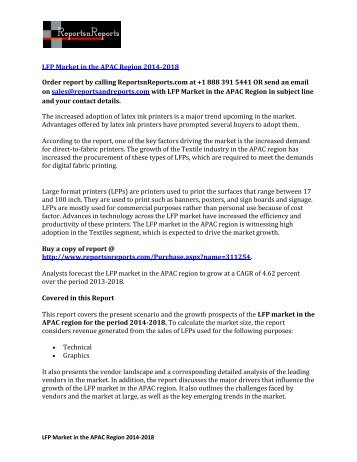 LFP Market in APAC Region 2018