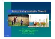 Vloga biomonitoringa pri ugotavljanju vplivov okolja na zdravje ...
