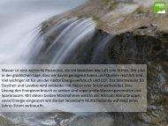 Wasser ist eine wertvolle Ressource, die wir brauchen wie Luft zum ...