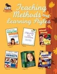 Teaching Methods and Learning Styles - November 2009 - Sage