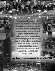 2004 Gymnastics Master.qxd - University of Kentucky Athletics