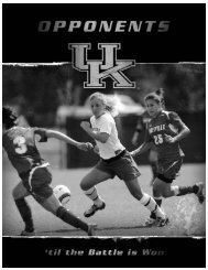 2007 Opponents ALABAMA - University of Kentucky Athletics
