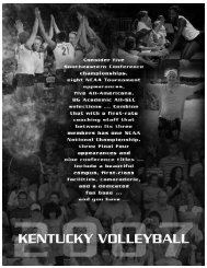 1 Splash:2-Media Info.qxp.qxd - University of Kentucky Athletics