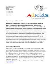 Medienmitteilung als PDF - UKBB