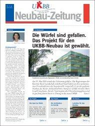 Neubauzeitung Nr. 1 - UKBB