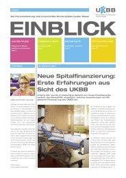 Neue Spitalfinanzierung: Erste Erfahrungen aus Sicht des UKBB