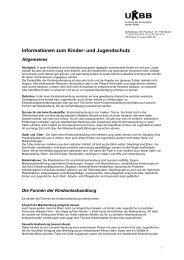 Informationen zum Kinder- und Jugendschutz - UKBB