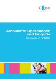 Ambulante Operationen und Eingriffe - UKBB