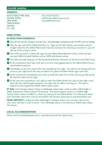 download PDF directions - ABC Boat Hire