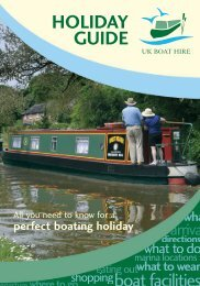 HOLIDAY GUIDE - UK Boat Hire