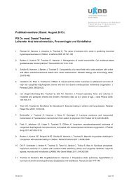 Publikationenliste (Stand: August 2013) PD Dr. med. Daniel ... - UKBB