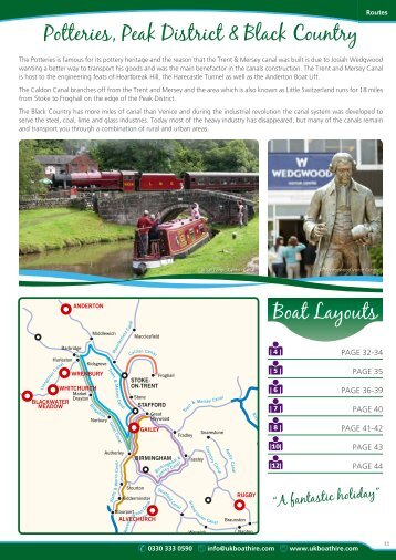 Holidays in the Potteries & Peak District - UK Boat Hire