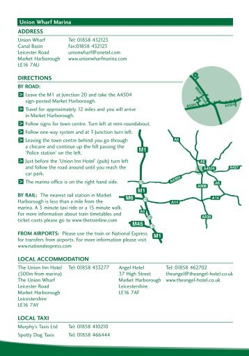 Download PDF Directions - UK Boat Hire