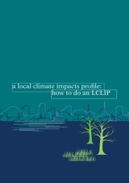 a local climate impacts profile: how to do an LCLIP - ukcip