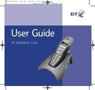 BT Equinox 1200 User Guide - UkCordless