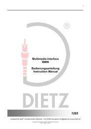 Multimedia Interface BMW Bedienungsanleitung Instruction Manual