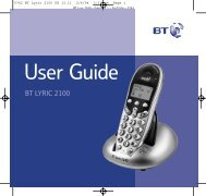 BT Lyric 2100 User Guide - UkCordless