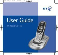 BT Calypso 120 User Guide - UkCordless