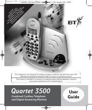 BT Quartet 3500 User Guide - UkCordless