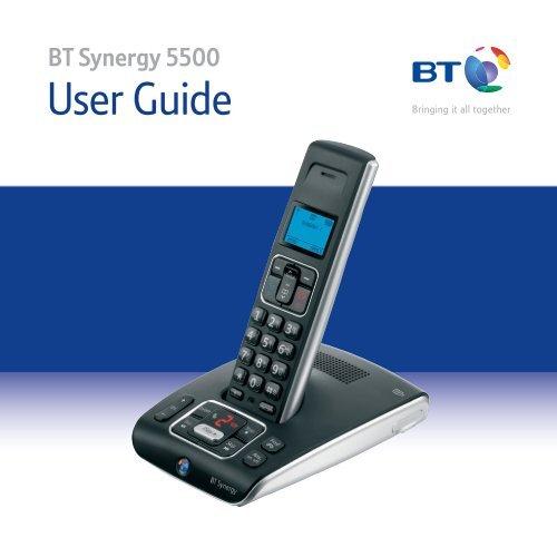 BT Synergy 5500 User Guide - Telephones Online