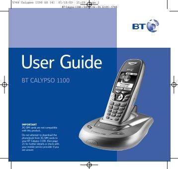 BT Calypso 1100 User Guide - UkCordless