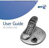 BT Studio 1500 DSPG User Guide - UkCordless