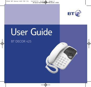 BT Decor 425 User Guide - UkCordless