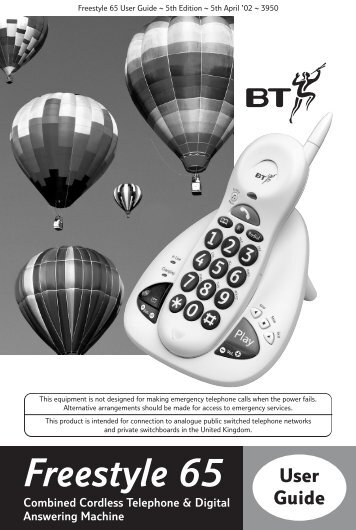 BT Freestyle 65 User Guide - UkCordless