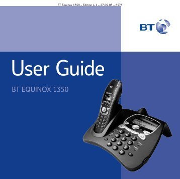 BT Equinox 1350 User Guide - UkCordless