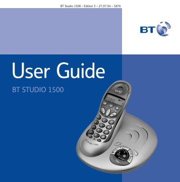 BT Studio 1500 User Guide - UkCordless