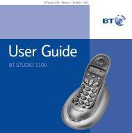 BT Studio 1100 User Guide - UkCordless