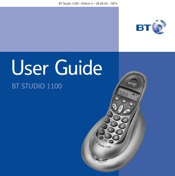 BT Studio 1100 User Guide - UkCordless