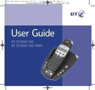 BT Studio 500 User Guide - UkCordless