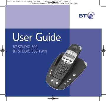 BT Studio 500 User Guide - UkCordless