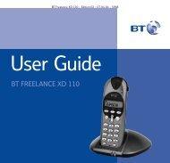 BT Freelance XD110 User Guide - UkCordless